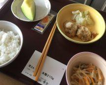 入院中の晩御飯